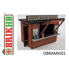 "Brikho Brikho OBRAMKI01 Snackbar/Kiosk ""oude stijl"" (Schaal 0, lasercut)"
