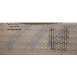 South Eastern Finecast FBS706 Builder Sheet Stone setts , O gauge, plastic