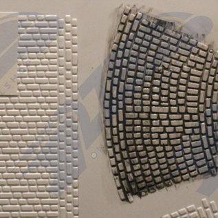South Eastern Finecast FBS420 Selbstbauplatte Kopfsteinpflaster Strasse. Maßstab H0/OO aus Kunststoff