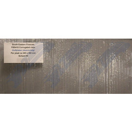 South Eastern Finecast FBS410 Selbstbauplatte Wellblechplatte Durchsichtig. Maßstab H0/OO aus Kunststoff