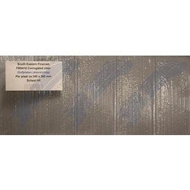 South Eastern Finecast FBS410 Zelfbouwplaat golfplaat doorzichtig, Schaal H0/OO, Plastic