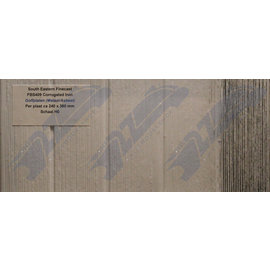 South Eastern Finecast FBS409 Builder Sheet Corrugated Iron, H0/OO gauge, plastic