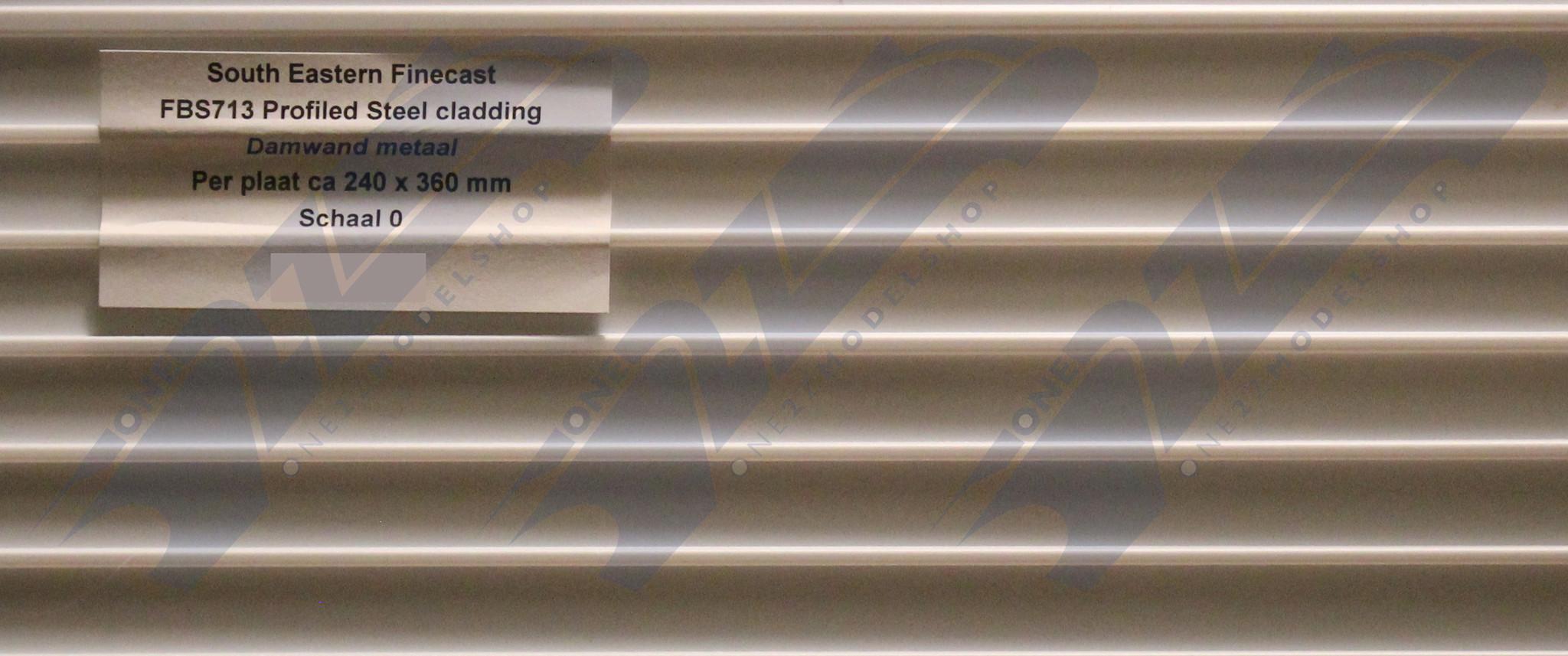 FBS713 Builder Sheet Profile steel cladding, O gauge, plastic
