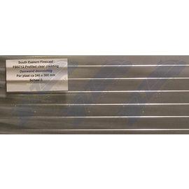 South Eastern Finecast FBS712 Zelfbouwplaat damwand doorzichtig, Schaal O, Plastic