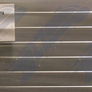 South Eastern Finecast FBS712 Builder Sheet Profiled clear cladding, O gauge, plastic