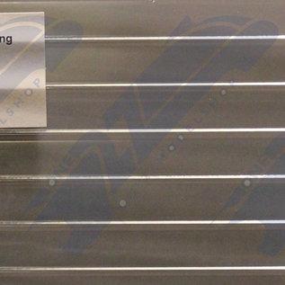 South Eastern Finecast FBS712 Selbstbauplatte Spundwände durchsichtig. Maßstab O aus Kunststoff