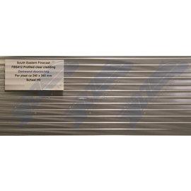 South Eastern Finecast FBS412 Zelfbouwplaat damwand doorzichtig, Schaal H0/OO, Plastic