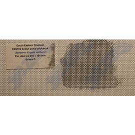 South Eastern Finecast FBS702 Zelfbouwplaat baksteen Engels verband, Schaal O, Plastic