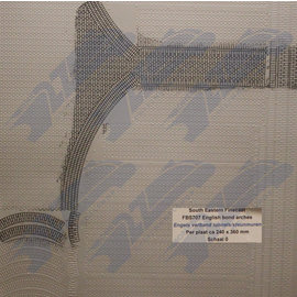 South Eastern Finecast FBS707 Selbstbauplatte Backstein Englischer Verbund Arkaden. Maßstab O aus Kunststoff
