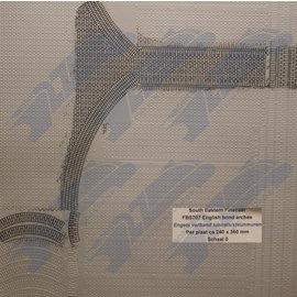 South Eastern Finecast FBS707 Zelfbouwplaat baksteen Engels verband Arkades, Schaal O, Plastic
