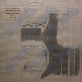 South Eastern Finecast FBS407 Zelfbouwplaat baksteen Engels verband Arkades, Schaal H0/OO, Plastic