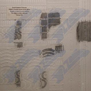 South Eastern Finecast FBS411 Zelfbouwplaat baksteen Engels verband hoeken en rollagen, Schaal H0/OO, Plastic