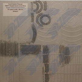 South Eastern Finecast FBS711 Selbstbauplatte Backstein Englischer Verbund Ecken und Steinbögen. Maßstab O aus Kunststoff