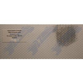 South Eastern Finecast FBS719 Builder Sheet Granite setts, O gauge, plastic