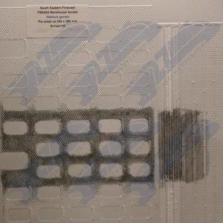 South Eastern Finecast FBS424 Selbstbauplatte Lagerhaus Fassaden. Maßstab H0/OO aus Kunststoff
