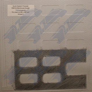 South Eastern Finecast FBS724 Builder Sheet Warehouse Facade, O gauge, plastic