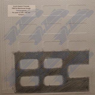 South Eastern Finecast FBS724 Zelfbouwplaat pakhuis gevels, Schaal O, Plastic