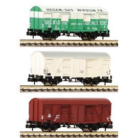 Fleischmann Fleischmann 831603 NS 3-tlg. Set gedeckte Güterwagen Bauart Gs DC periode IV (schaal N)
