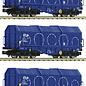 Fleischmann Fleischmann 838825 NS 3-tlg. Set Teleskophaubenwagen Bauart Shimmns DC era IV-V (Gauge N)