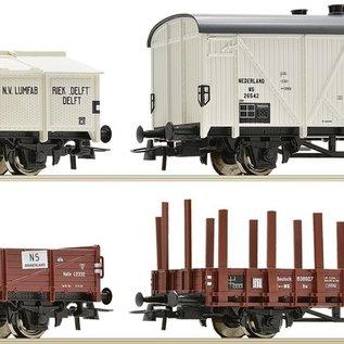 Roco Roco 67128 NS 8-teiliges Set Güterwagen DC periode III (schaal H0)