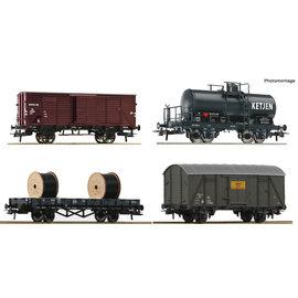 Roco Roco 76134 NS 4-tlg. Set: Güterwagen DC periode III (schaal H0)