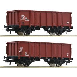 Roco Roco 76136 NS 2-tlg. Set: Offene Güterwagen DC periode III (schaal H0)
