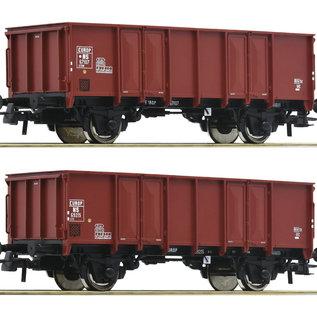 Roco Roco 76136 NS 2-tlg. Set: Offene Güterwagen DC era III (Gauge H0)