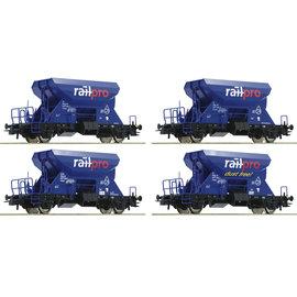 Roco Roco 76137 Railpro 4-tlg. Set: Schotterwagen DC periode VI (schaal H0)