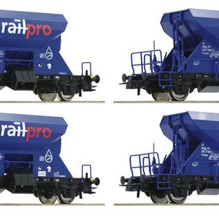 Roco Roco 76137 Railpro 4-tlg. Set: Schotterwagen DC Epoche VI (Spur H0)