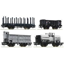 Roco Roco 76077 4-tlg. Set: Güterwagen DC Epoche I (Spur H0)