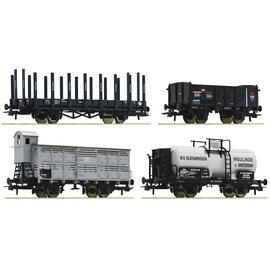 Roco Roco 76077 4-tlg. Set: Güterwagen DC periode I (schaal H0)