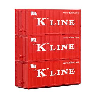 Piko Piko 56220 3er Set 20 Container K-Line (schaal H0)
