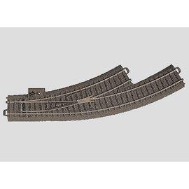 Märklin Märklin 24671 C-Rail Meegebogen wissel links (schaal HO)