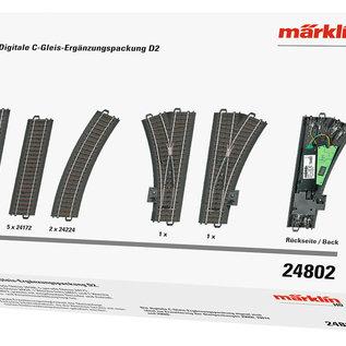 Märklin Märklin 24802 Uitbreidingspakket D2 voor digitale C-rails (schaal HO)