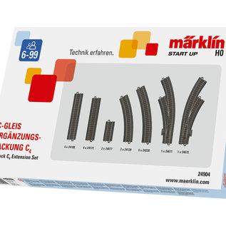 Märklin Märklin 24904 Uitbreidingspakket C4 voor C-rails (schaal HO)