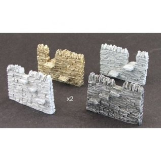 Skytrex Skytrex SMRS07 Dry stone wall, 2 passing places (Gauge O)
