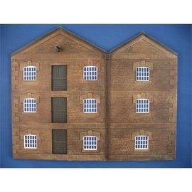 Skytrex Skytrex SMRS35 Low relief 3 storey warehouse (Gauge O)