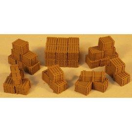 Skytrex Skytrex 4A/013 Stapels houten kisten (schaal H0/00)