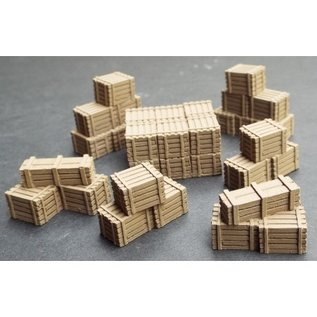 Skytrex Skytrex SMRA64 Stacks of small wooden crates (Gauge O)