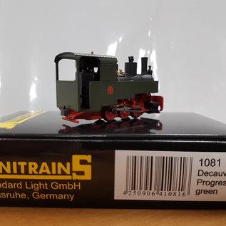 Minitrains Minitrains 1081 Decauville Progres Groen 3-assig smalspoor stoomlocje