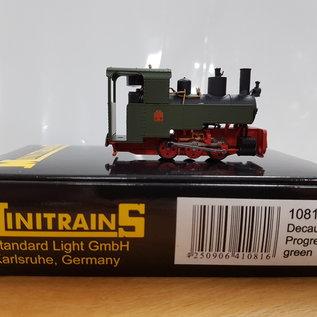 Minitrains Minitrains 1081 Decauville Progres Grün 3-Achsiger Schmalspur Dampflok