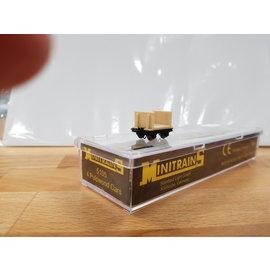 Minitrains Minitrains 5105 Satz von 4 Schmalspur Stirnbord Wagons