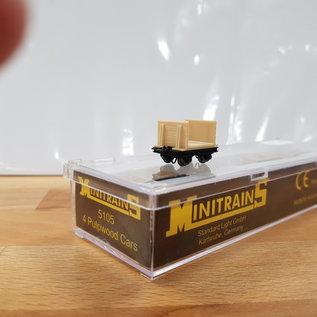 Minitrains Minitrains 5105 set of 4 narrow gauge pulp wood waggons
