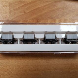 Minitrains Minitrains 5102 set van 4 smalspoor cement wagonnetjes