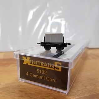 Minitrains Minitrains 5102 Satz von 4 Schmalspur Zement Wagons