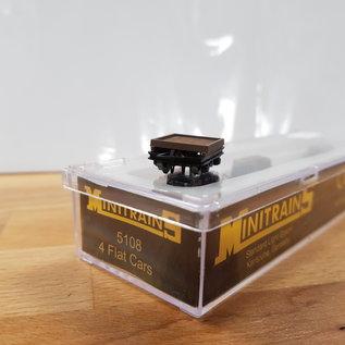 Minitrains Minitrains 5108 set van 4 smalspoor platte wagonnetjes