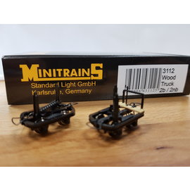 Minitrains Minitrains 3112 set of 4 narrow gauge bolster waggons