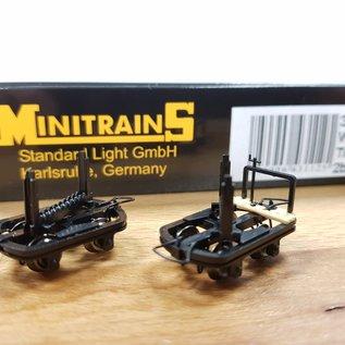 Minitrains Minitrains 3112 set van 4 smalspoor schamelwagonnetjes