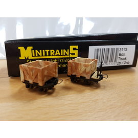 Minitrains Minitrains 3113 set of 4 narrow gauge open waggons