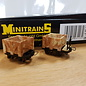 Minitrains Minitrains 3113 set van 4 smalspoor  open wagonnetjes
